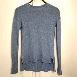 High low Crewneck pullover wool sweater by J. Crew